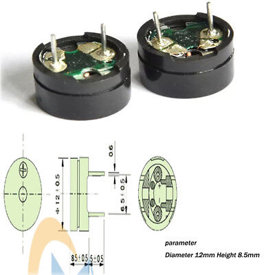 12x8.5mm 16Ω 3V Passive Separate Electromagnetic Buzzer for Mainboard Alarm