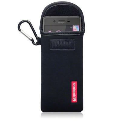 Shocksock Neoprene Pouch Case with Carabiner for Sony Xperia X - Black