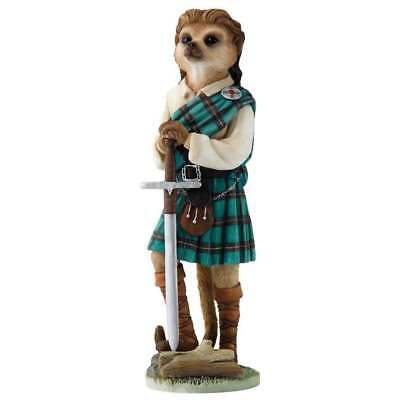 Magnificent Meerkats William Wallace Scottish Meerkat Figurine CA04498