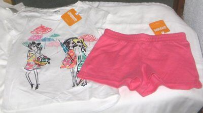 NWT Girls 7/8 GYMBOREE 2 Pc Outfit Shorts and Short Sleeve Top NEW