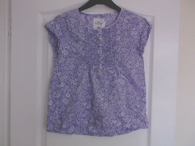 Girls H&M Floral Cotton Blouse age 10-11 years