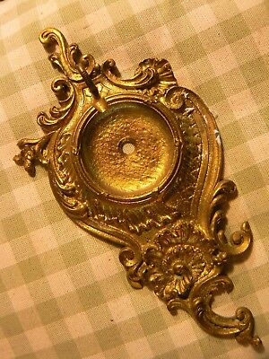 Pretty Antique French Brass Beautifully Shaped Wall Pocket Watch Stand Hook
