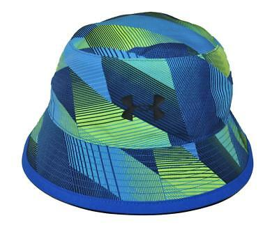 Under Armour Boys Blue & Lime Warrior Bucket Hat Size Medium (4-6 Years)