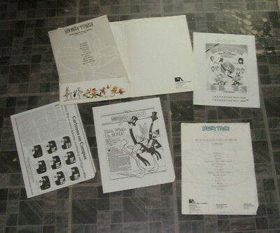 Looney Tunes Press Licensing Promo Kit 1985 Bugs Bunny Pepe Le Pew Foghorn Legho