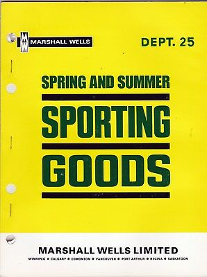 Marshall Wells Spring & Summer Sporting Goods Catalog Store Master 1969 wolc6
