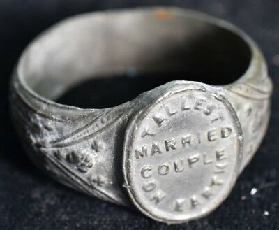 1930's PT Barnum Tallest Married Couple On Earth Souvenir Ring