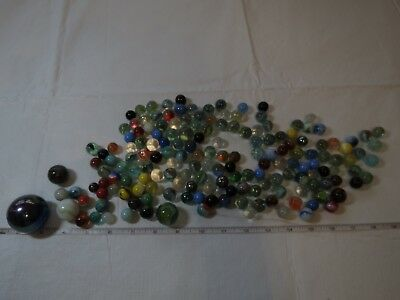 vintage collection marbles akro agate corkscrew swirl different sizes lot slag ~