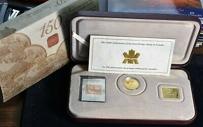2001 Canada Gold Plated Coin & Stamp Set