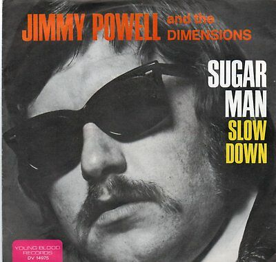 "S7 1971 "" JIMMY POWELL & THE DIMENSIONS  /  Sugar Man "" PS   VOGUE DV 14975"