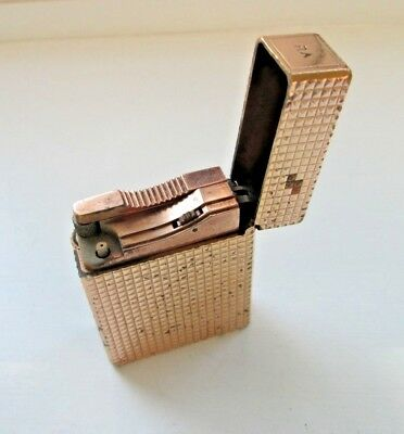Vintage St Dupont Lighter 20 Microns Gold Plated Parts Or Restore