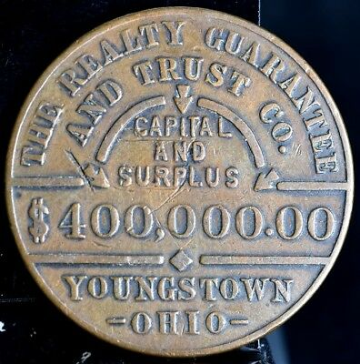 Youngstown Ohio Good luck Token - The Realty Guarantee And Trust Co.