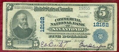 National Currency-Series of 1902 $5.00-Commercial National Bank of San Antonio