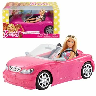 Convertible Car with Barbie Doll   Mattel FPR57   Vehicle   Fab Life & Family