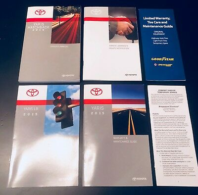 2015 Toyota Yaris Hatchback Owner's Manual / Guide Set (USA)