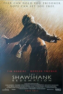 SHAWSHANK REDEMPTION MOVIE POSTER, USA Version (Size 24 x 36)