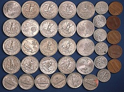 United States Coin collection, US Coins $5.90, Quarters, Nickels Dimes  *[13135]