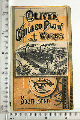 Folded Victorian Trade Card - Oliver Chilled Plow Works -  001