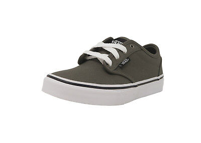 bb08fd66ffb153 VANS Atwood Canvas Charcoal Gray White Shoes Kids Youth Sneakers Boys Shoes
