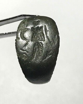 Ancient Roman Empire, 1st - 3rd c. AD. Bronze Intaglio Signet Ring, Goddess