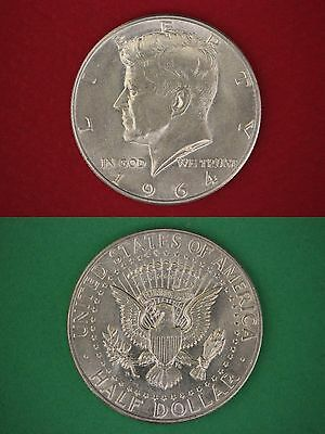 MAKE OFFER $5.00 Face Value 90/% Silver 1964 John Kennedy Half Dollars Junk Coins