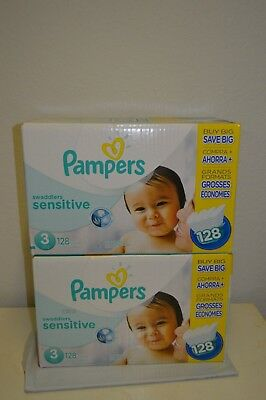 Pampers Swaddlers Sensitive Diapers Size 3 (256 Count) -SHIPS FAST