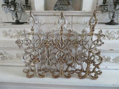 OMG Antique Architectural Cast Iron METAL WIDOWS WALK Very Ornate CHIPPY WHITE