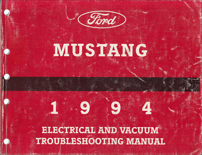 1994 Ford Mustang Electrical and Vacuum Troubleshooting Manual Original Service