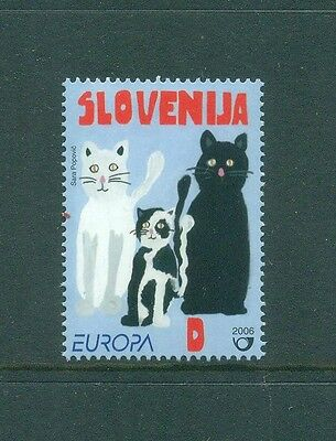 Slovenia 2006 Europa Black Cat White Cat and spotted Kitten MNH
