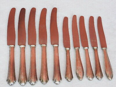 LOT 10 COUTEAUX 90 SILBER argent POINCON knife MESSER swiss BERNDORF STAINLESS