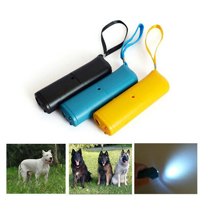Dog Anti Bark Device Control Trainer Repeller Stop Barking Train Ultrasonic Led