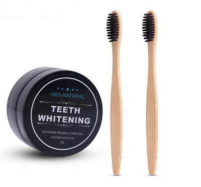 Teeth Whitening 100% Activated Bamboo Charcoal Powder Box Oral Hygiene Cleaning