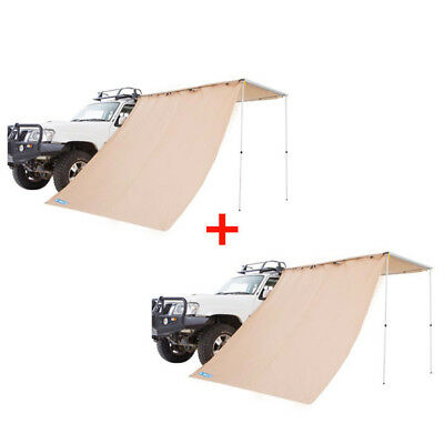 2x Adventure Kings Awning Side Wall Camping Outdoor Shade Extension