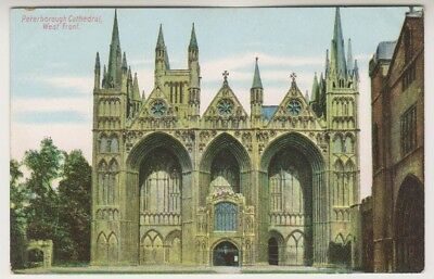 Cambridgeshire postcard - Peterborough Cathedral, West Front (A60)