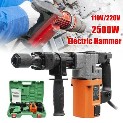 2500W Electric Demolition Jack Hammer Drill Concrete Breaker Jackhammer 2500BPM