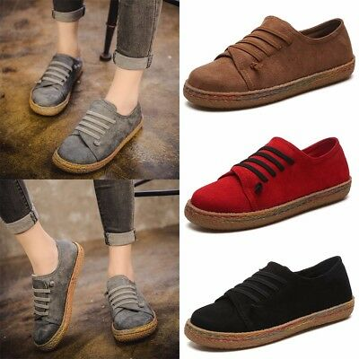 ced76d547df WOMEN LADIES SUEDE Slip On Soft Loafers Lazy Casual Flat Shoes Moccasins  Outdoor - £9.59