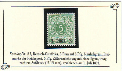 Deutsch-Ostafrika Nr 2 I ** s. Scan