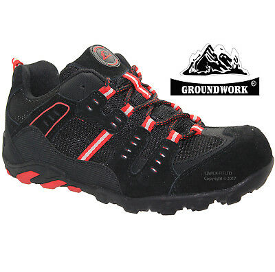 Mens Groundwork Ultra Lightweight Steel Toe Cap Safety Work Trainers Shoes Sizes