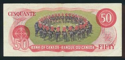"Canada: 1975 $50 ""R.C. MOUNTED POLICE"" with RARE LUCKY NO. ""555"". Pick 90a"