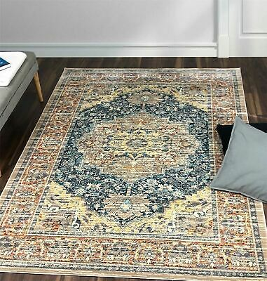 A2Z Large Blue Traditional Vintage Style Persian Luxury Rugs Rooms Carpets Mats