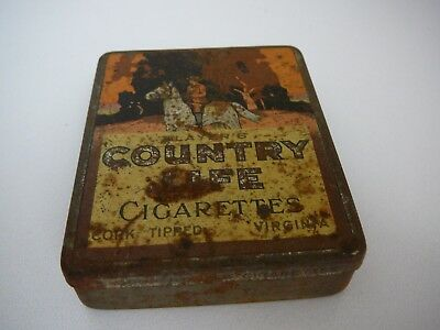 EMPTY Players Country Life Cigarettes Tin W.D & H.O. Wills Cork Tipped Virginia