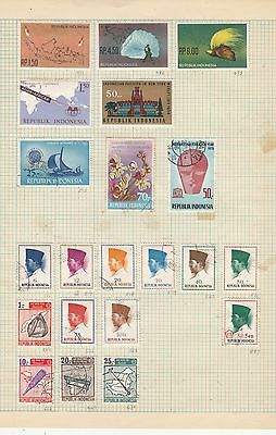 INDONESIA 1960's-70 Collection FINE MINT/USED stamps removed for Shipping
