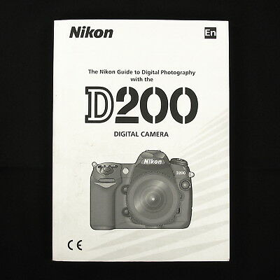 Nikon D200 Digital Camera Instruction Manual / Book, English #40704