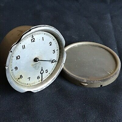 Vintage Smiths MA Wind Up Car Dashboard Clock - Appx 71mm Dia Face