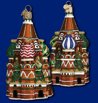 """""""St. Basil's Cathedral"""" (20061)X Old World Christmas Glass Ornament w/ OWC Box"""