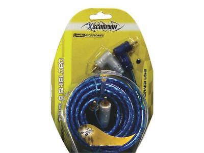 Rca Cable 3' Xscorpion Blue Triple Shielded W/Remote Wire