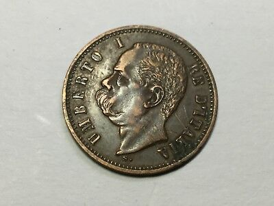 ITALY 1898-R 2 Centesimi coin very nice, light obverse scratches