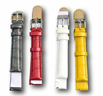9e3dd582a Invicta 16 mm Watch Band Women's RARE Colors Genuine Leather Straps Fits  Lupah