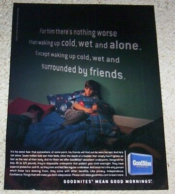 2002 print AD PAGE - Goodnites bedwetting diaper underpants advertising ADVERT
