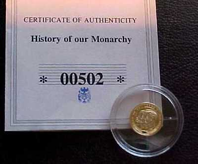 PROOF 14ct SOLID GOLD .585 LTD ISSUE = YEAR 3 KINGS 1936 = TINY COIN OF MONARCHY