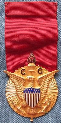 Unknown WWII or earlier US medal with BEAUTIFUL gold gilt pendant!